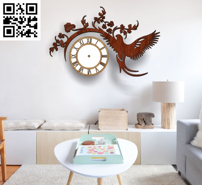 Eagle clock file cdr and dxf free vector download for Laser cut