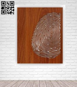 Fingerprint pano file cdr and dxf free vector download for Laser cut