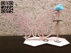 Flower Holder with butterfly E0010543 file cdr and dxf free vector download for Laser cut