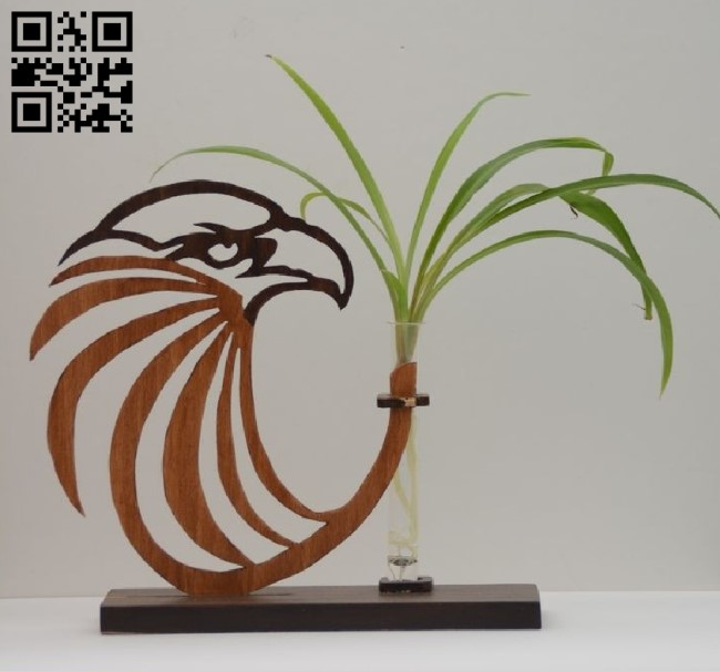 Flower Holder with eagle E0010544 file cdr and dxf free vector download for Laser cut