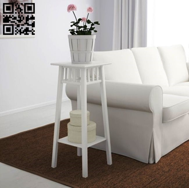 Flower pot stand E0010536 file cdr and dxf free vector download for Laser cut