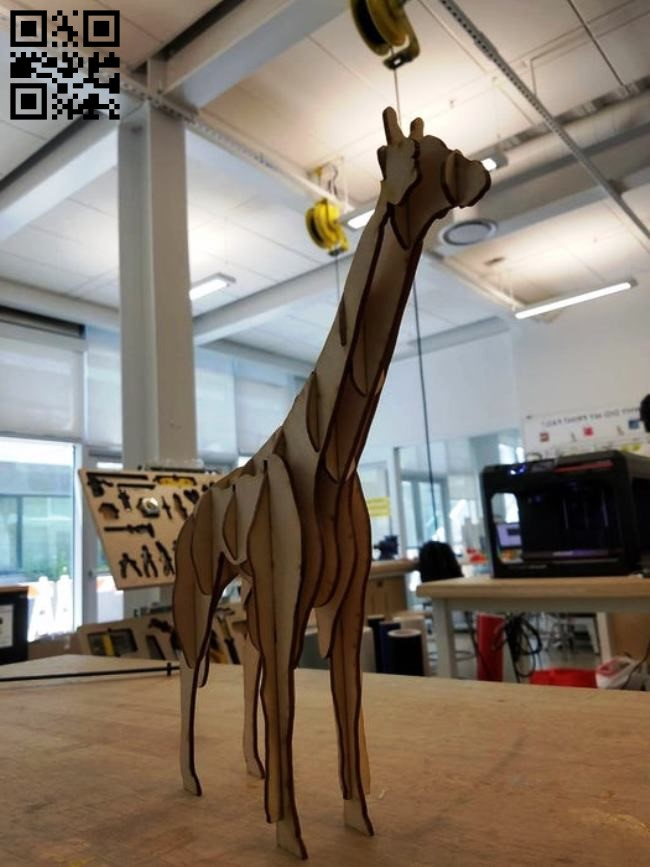 Giraffe E0010550 file cdr and dxf free vector download for Laser cut
