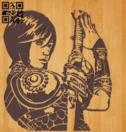 Girl with a sword file cdr and dxf free vector download for Laser cut
