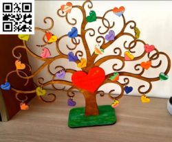 Heart tree file cdr and dxf free vector download for Laser cut