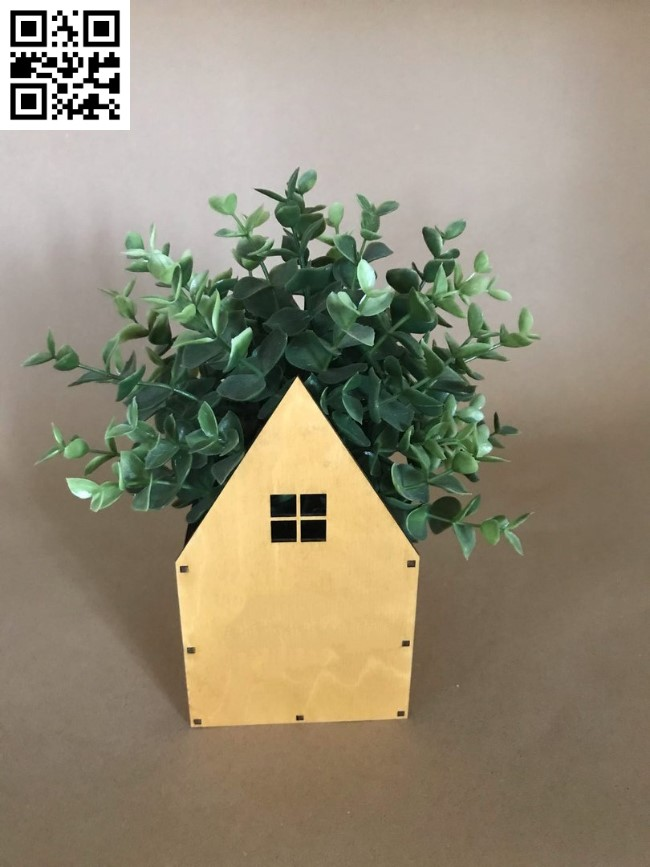 House with tree file cdr and dxf free vector download for Laser cut