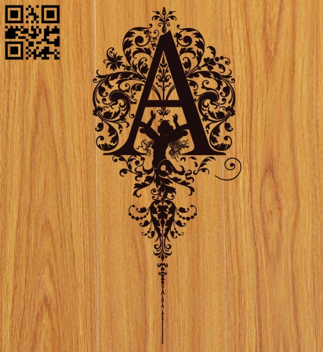 Letter A art E0010531 file cdr and dxf free vector download for laser engraving machines