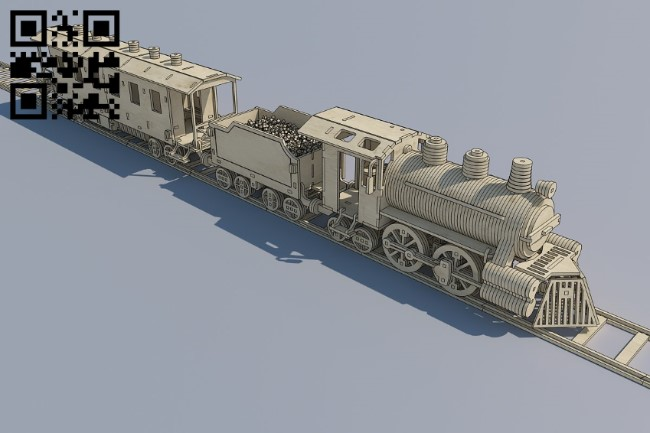 Locomotive file cdr and dxf free vector download for laser engraving machines