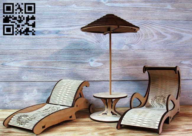 Lounges chair E0010505 file cdr and dxf free vector download for Laser cut