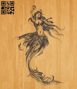 Mermaid E0010484 file cdr and dxf free vector download for laser engraving machines