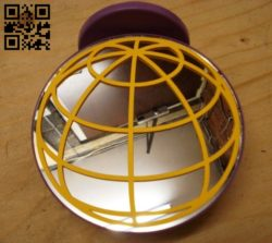 Mirror circle E0010521 file cdr and dxf free vector download for Laser cut