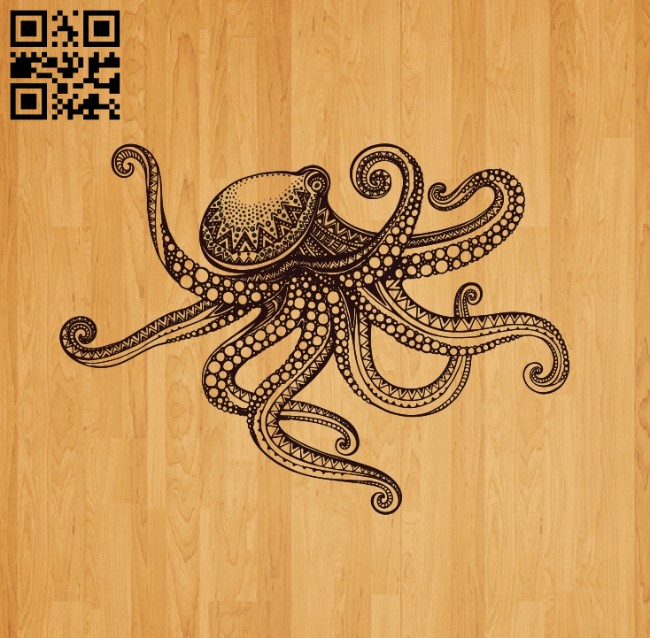 Octopus E0010551file cdr and dxf free vector download for laser engraving machines