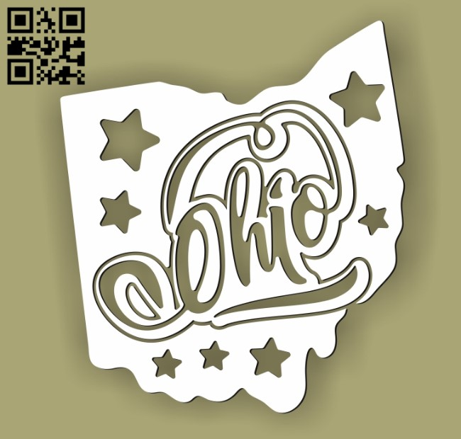 Ohio E0010525 file cdr and dxf free vector download for Laser cut