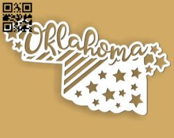 Oklahoma E0010524 file cdr and dxf free vector download for Laser cut