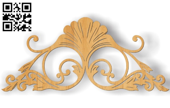 Pattern Flower E0010425 wood carving file cdr and dxf free vector download for Laser cut CNC