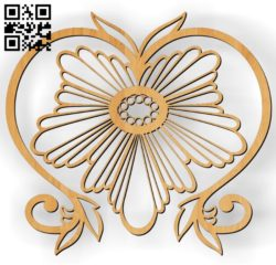 Pattern Flower E0010426 wood carving file cdr and dxf free vector download for Laser cut CNC