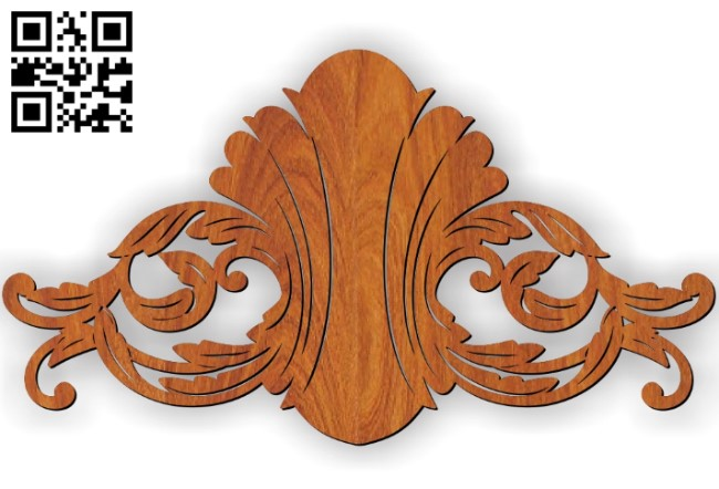Pattern Flower E0010427 wood carving file cdr and dxf free vector download for Laser cut CNC