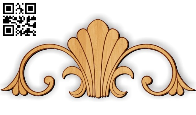 Pattern Flower E0010428 wood carving file cdr and dxf free vector download for Laser cut CNC