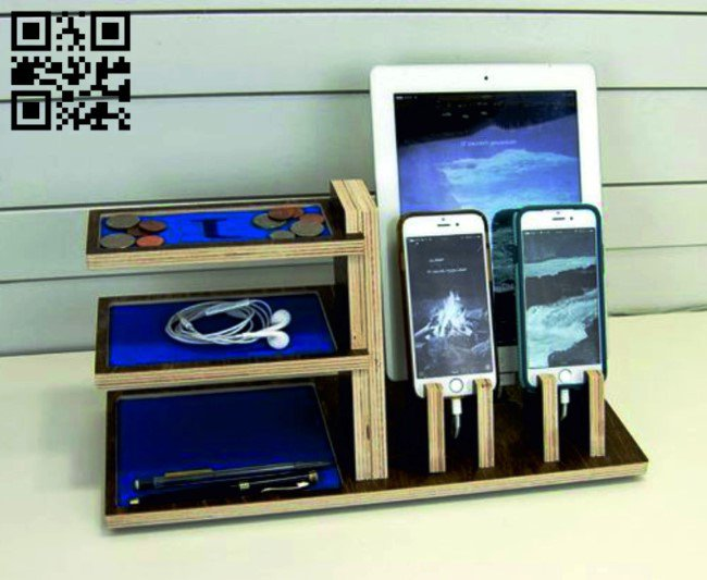 Phone organizer E0010468 file cdr and dxf free vector download for laser cut