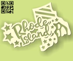 Rhode Island  E0010526 file cdr and dxf free vector download for Laser cut