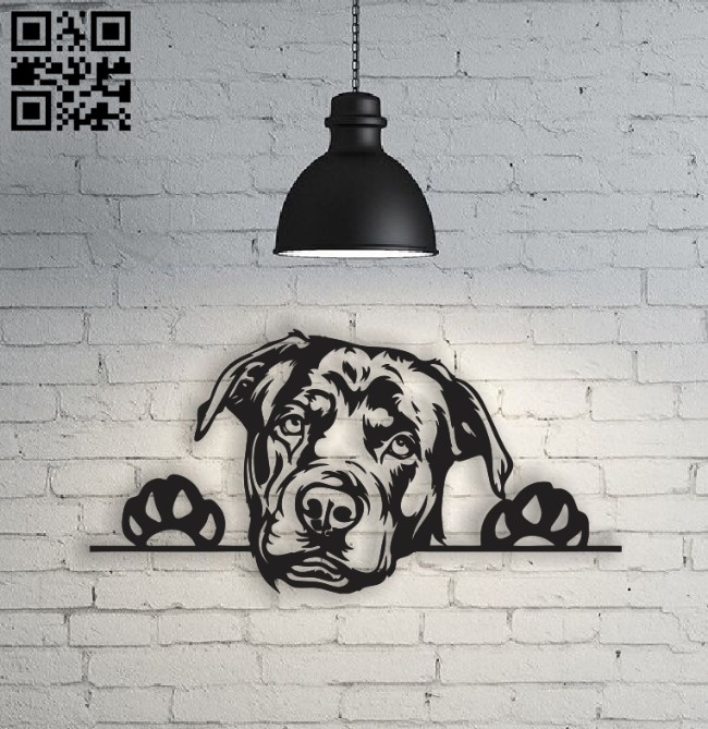 Rottweiler E0010493 file cdr and dxf free vector download for Laser cut