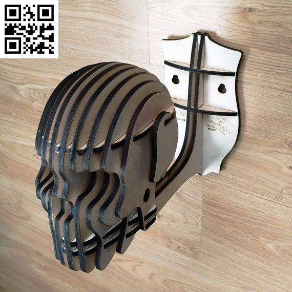 Skull 3D puzzle file cdr and dxf free vector download for Laser cut