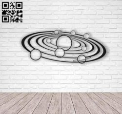 Solar system wall art E0010453 file cdr and dxf free vector download for Laser cut