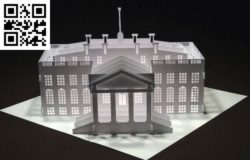 The White House paper cut E0010469 file cdr and dxf free vector download for laser cut
