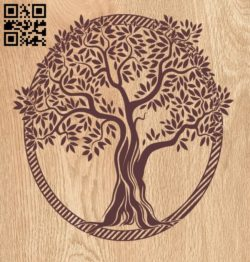 Tree E0010541 file cdr and dxf free vector download for laser engraving machines