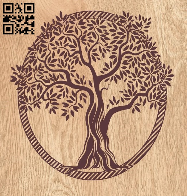 Tree E0010541file cdr and dxf free vector download for laser engraving machines