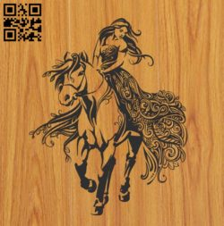Walk on horseback file cdr and dxf free vector download for Laser cut