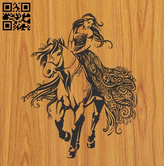 Walk on horseback file cdr and dxf free vector download for Laser cut