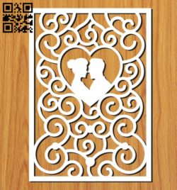 Wedding card decoration file cdr and dxf free vector download for Laser cut