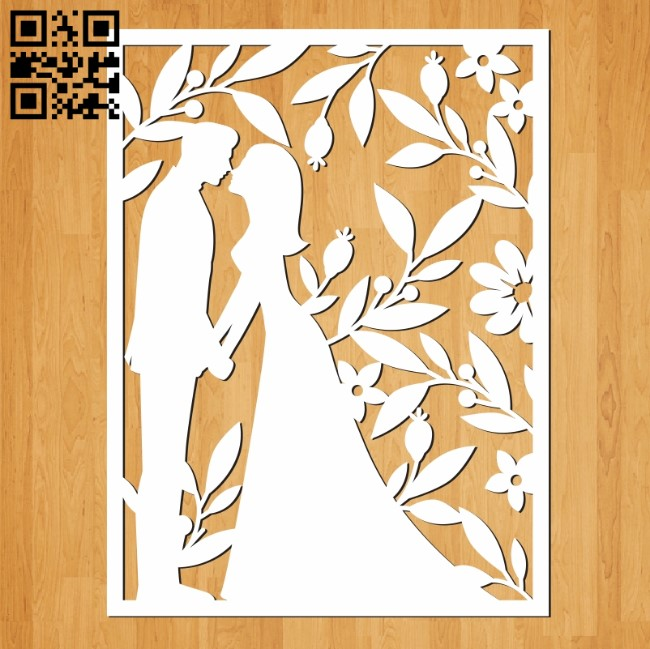 Wedding cards file cdr and dxf free vector download for Laser cut