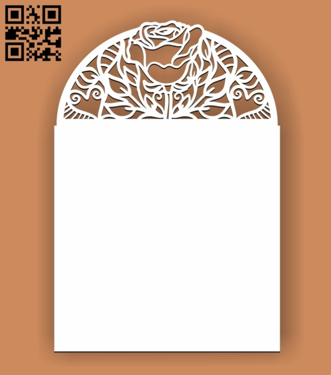 Wedding invitation pattern E0010522 file cdr and dxf free vector download for Laser cut