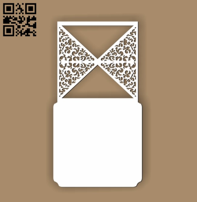 Wedding invitation pattern E0010523 file cdr and dxf free vector download for Laser cut