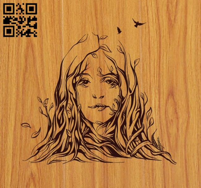 Woman from the trees file cdr and dxf free vector download for laser engraving machines