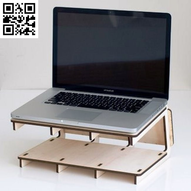 Wooden laptop stand file cdr and dxf free vector download for Laser cut