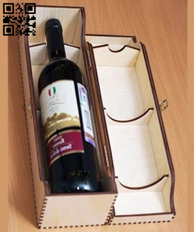 Wooden wine box file cdr and dxf free vector download for Laser cut CNC