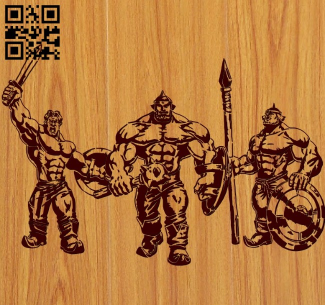 Three heroes file cdr and dxf free vector download for Laser cut