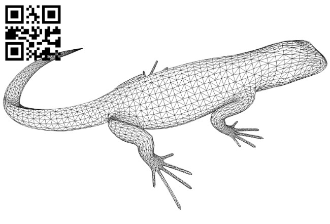 3D illusion led lamp Lizard E0010640 free vector download for laser engraving machines