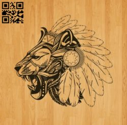 Aboriginal lion E0010609 file cdr and dxf free vector download for laser engraving machines