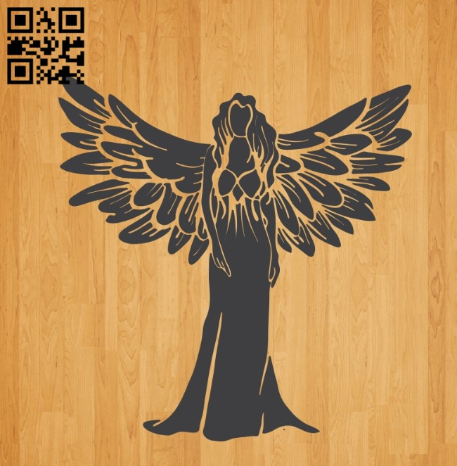 Angel wings E0010652 file cdr and dxf free vector download for laser engraving machines