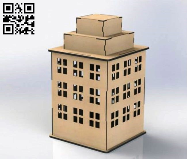 Apartment building E0010831 file cdr and dxf free vector download for Laser cut