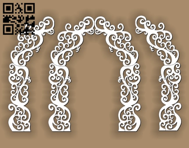 Arch E0010858 file cdr and dxf free vector download for Laser cut CNC