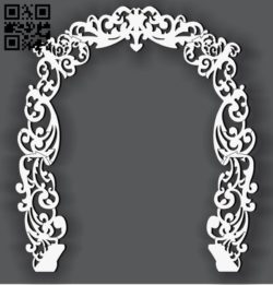 Arch E0010859 file cdr and dxf free vector download for Laser cut CNC