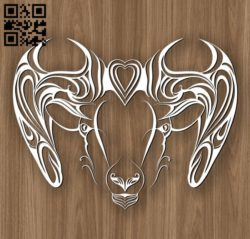 Aries zodiac E0010697 file cdr and dxf free vector download for laser engraving machines