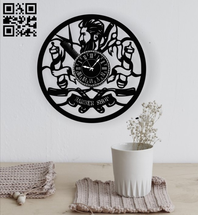 Barber shop E0010825 file cdr and dxf free vector download for Laser cut