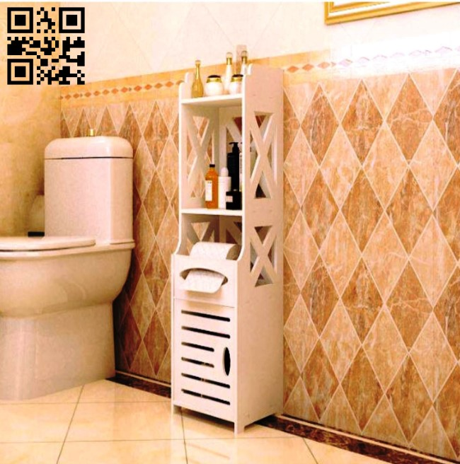 Bathroom shelf E0010623 file cdr and dxf free vector download for Laser cut