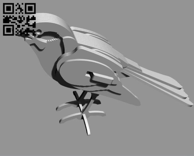 Bird E0010915 file cdr and dxf free vector download for Laser cut