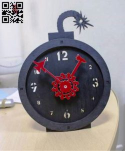 Bomb clock E0010568 file cdr and dxf free vector download for Laser cut
